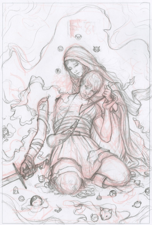 a Fables sketch from his blog